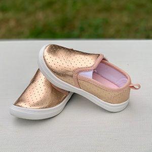 Wonder Nation Perforated Metallic Infant Sneaker